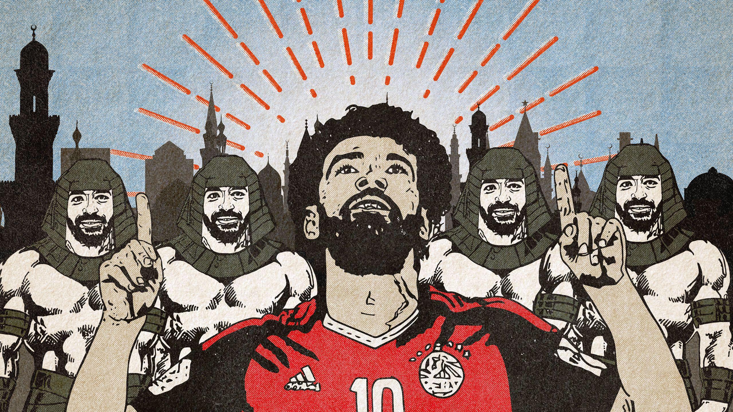 Mohamed Salah Liverpool Illustration Football T Salah